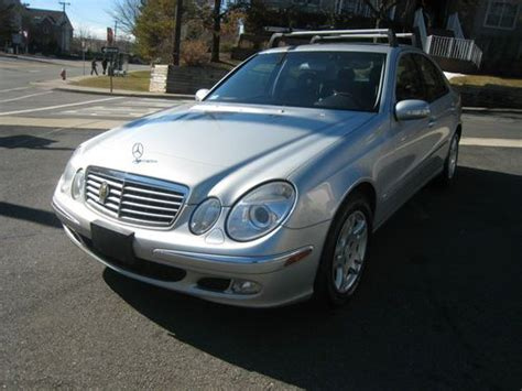 sell used 2005 mercedes e 320 cdi silver with black