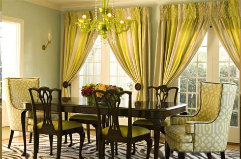 dining room draperies gray yellow curtains transitional dining room