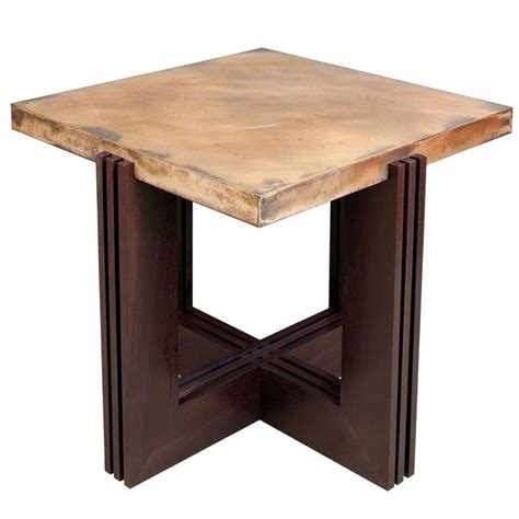 Side Table L by Quot Flw Quot Side Table In Etched Bronze And Ebonized Walnut By