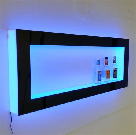 wall shelves with lights led lighted floating wall shelves