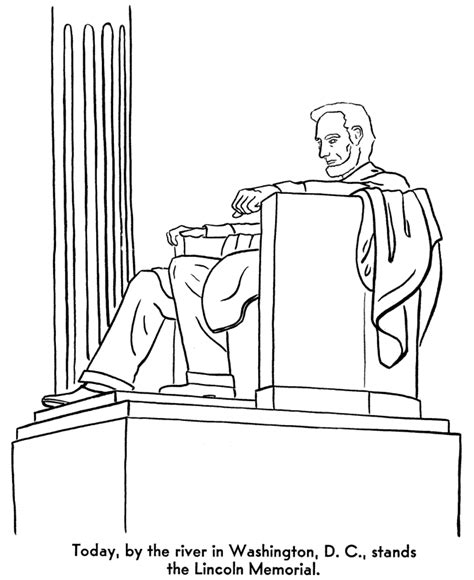 lincoln memorial coloring page coloring home