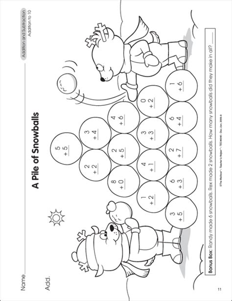 1st Grade Printable Math Worksheets by The Mailbox
