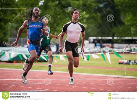 track meet relay card template meters editorial photography image 61696792