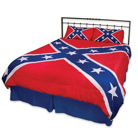 Rebel Flag Three Piece Comforter Set Budk Com Knives