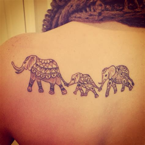 elephant family tattoo elephant tattoos designs ideas
