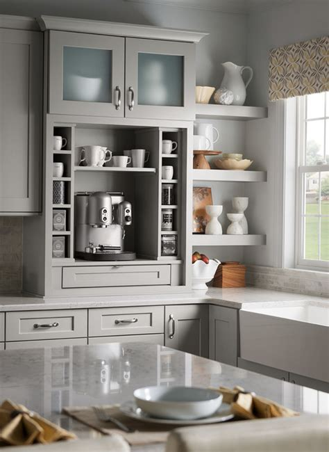 Kitchen Coffee Station Cabinetry