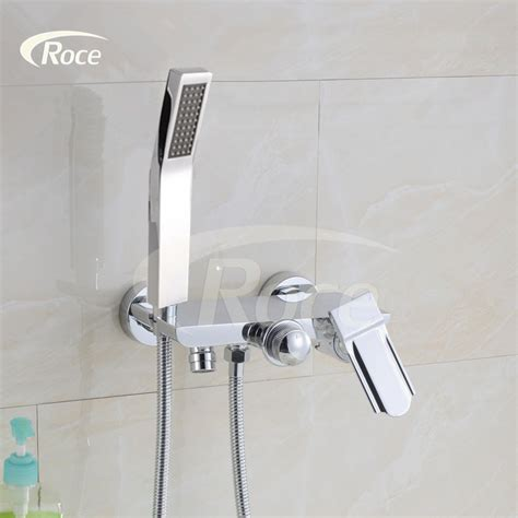 hot cold bathroom faucet hot and cold shower faucet triple bathtub faucet copper