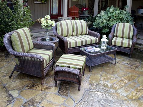 patio and porch furniture tortuga 5 pc resin wicker patio set fn21500