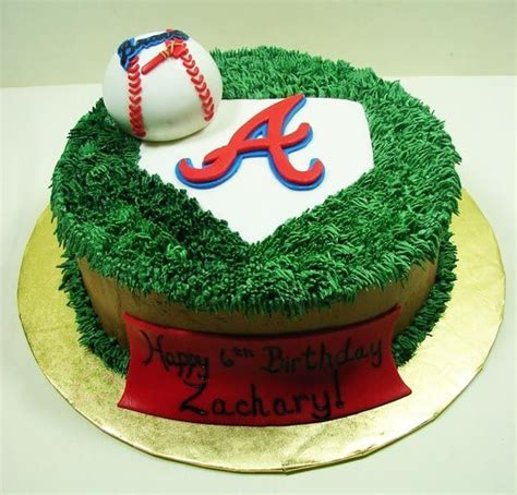themed birthday cakes atlanta atlanta braves baseball cake ideas and designs