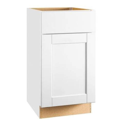hton bay cabinets white shaker hton bay 18x34 5x24 in shaker base cabinet with ball