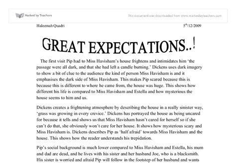Great Expectations Essay by Great Expectation Coursework