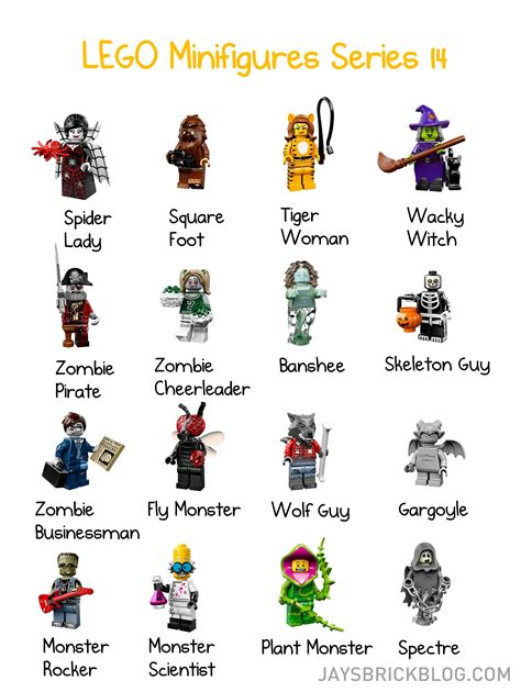 Lego Minifigures Series 12 Complete Set 16 Character official lego minifigures series 14 images