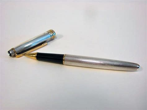 Montblanc Blanc Silver mont blanc sterling silver pen meisterstuck point