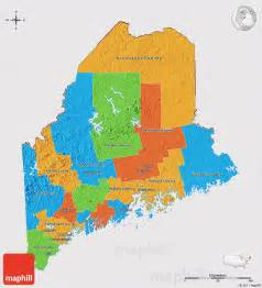 political 3d map of maine cropped outside