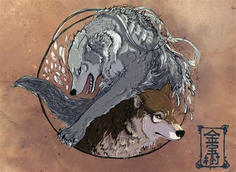 two wolves tattoo 1000 ideas about two wolves on ying
