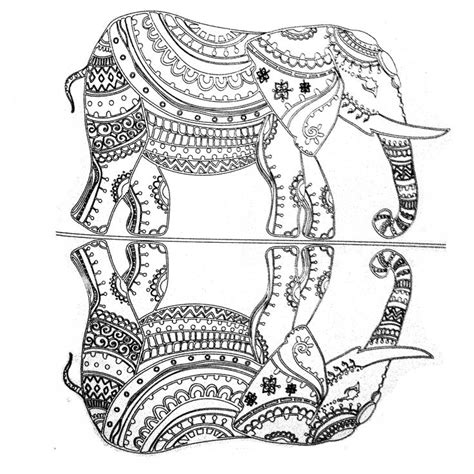trippy elephant coloring pages colors of nature adult colouring book elephant with