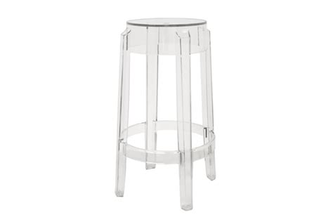 Clear Acrylic Counter Height Stools by Ghost Stools Bettino Clear Acrylic Counter Height Stool