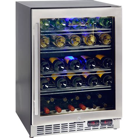 2 Zone Wine Refrigerator Quiet Running For Under Bench Application Made Specially To