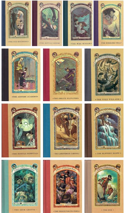 a series of unfortunate events books 1 13 by lemony snicket 1 the bad beginning 2 the reptile