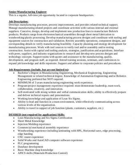 Industrial Engineering Description by 10 Engineer Description Templates Pdf Doc Free Premium Templates