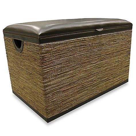 seagrass storage bench seagrass storage bench bed bath beyond
