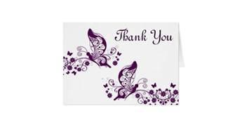 purple butterflies thank you card zazzle