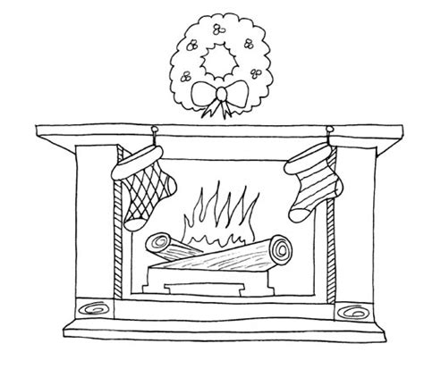 camino da colorare fireplace coloring pages learn to coloring