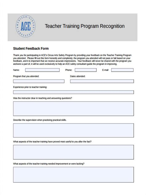 training feedback template excel building maintenance