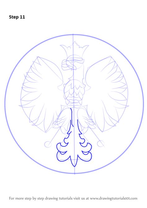 polish eagle coloring page step by step how to draw polish eagle