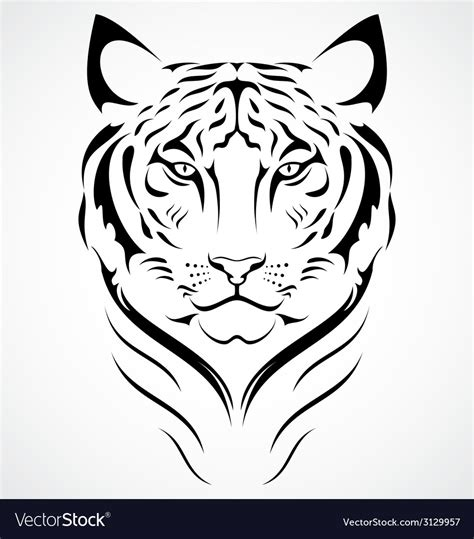 bengal tiger tattoo design royalty free vector image