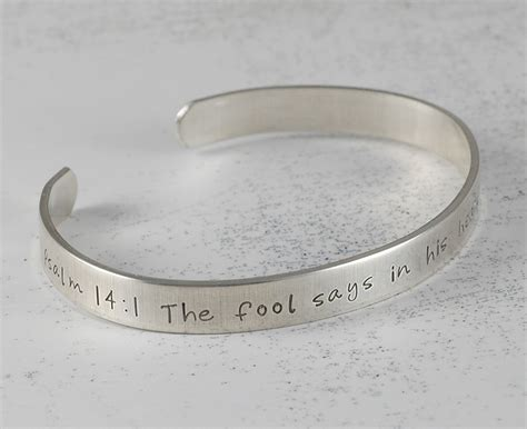personalized cuff bracelet sterling silver by divinestings