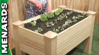 Raised bed planter menards youtube