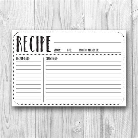 4x6 blank recipe cards printable recipe card 4x6 recipe card plain kitchen