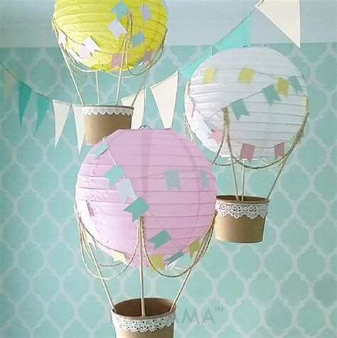air balloon decorations nursery whimsical air balloon decoration diy kit nursery decor