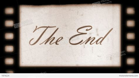 End Of by The End Vintage Filmstrip Stock Animation 1874224