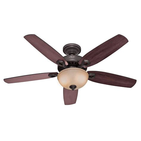 Builder Ceiling Fans by Builder Deluxe 52 In Indoor New Bronze Ceiling Fan With Light Kit 53091 The Home Depot