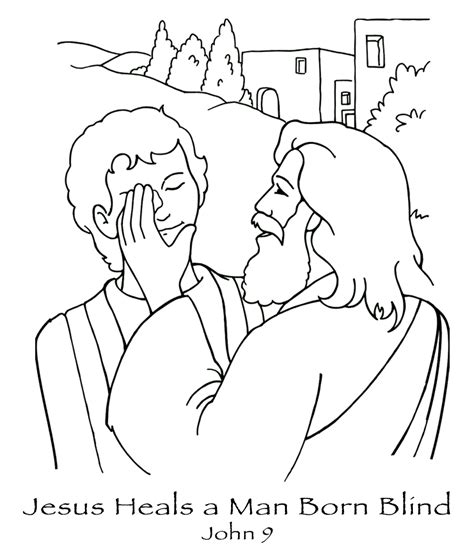 coloring page jesus heals deaf 1000 images about bible colouring pages on