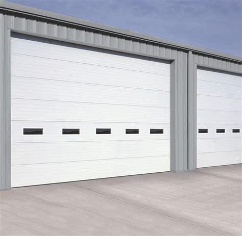 thermally broken steel industrial garage doors