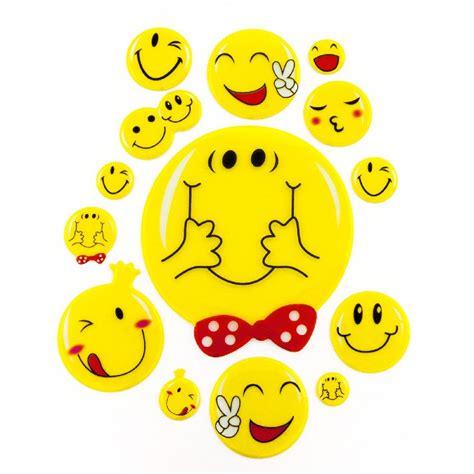 3d Aufkleber Zum Basteln by 14 3d Smiley Smilies Sticker Aufkleber Emoji Set Deko