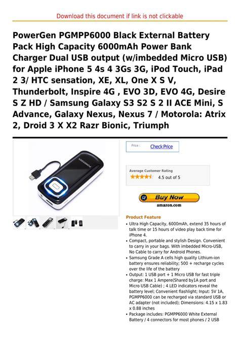 Power Bank Advance S22 6000 powergen pgmpp6000 black external battery pack high