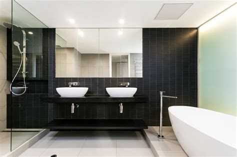 Salle De Bains 3d 1813 by Striking South Yarra Apartment Renovation By Canny