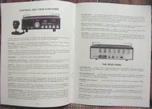 458 Owners Manual Realistic Navaho Trc 458 Am Ssb Cb Radio Owners Manual W