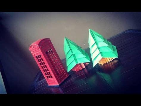 membuat pohon natal origami tutorial membuat origami pohon natal pohon cemara dengan