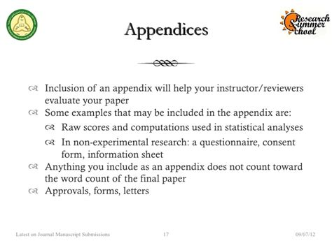 Appendices Research Paper by Where To Put Appendix In Research Paper Writefiction581