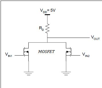 mosfet gate drain resistor mosfet what effect does the drain resistance on the output voltage of the logic gate