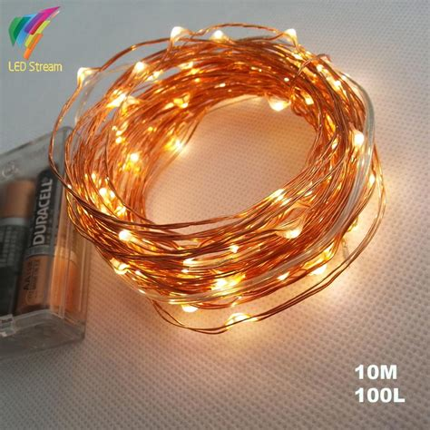 100 battery operated led string lights aa battery operated 33ft 10m 100 led christmas holiday