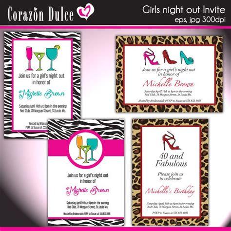 girls night  invites bachelorette girls night