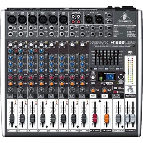 behringer table de mixage et interface x1222usb table de