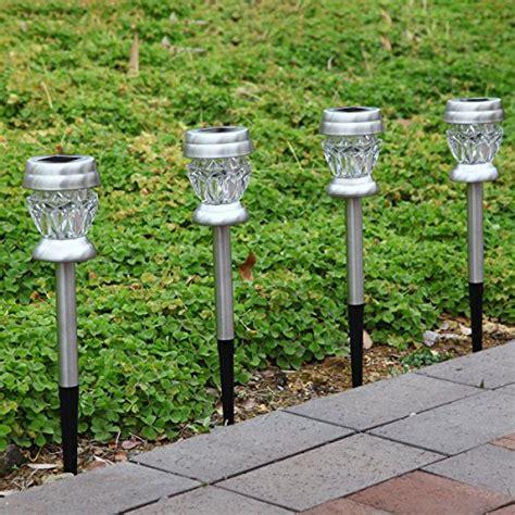 solar pathway lights amazon gigalumi solar lights outdoor dual led garden light