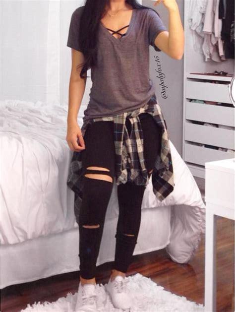 jean outfits on pinterest outfits con bralettes para llevar a la escuela sin